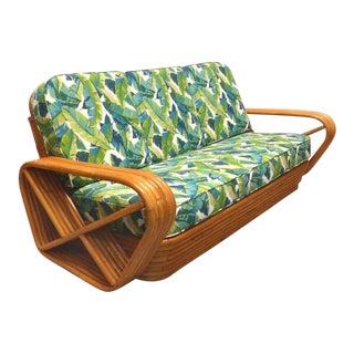 1950s Vintage Iconic Restored Paul Frankl 6 Bands Pretzel Sofa For Sale