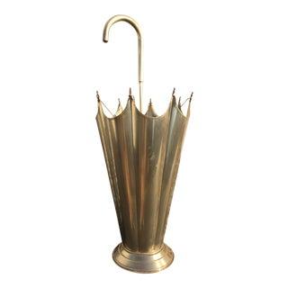 Mid-Century Brass Umbrella Shaped Stand