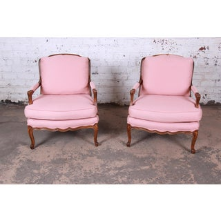 Baker Furniture French Provincial Louis XV Fauteuils, Pair Preview