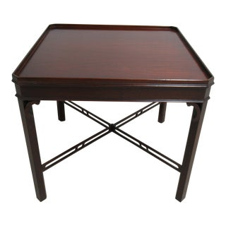 Council Furniture Federal Mahogany Square End Table For Sale