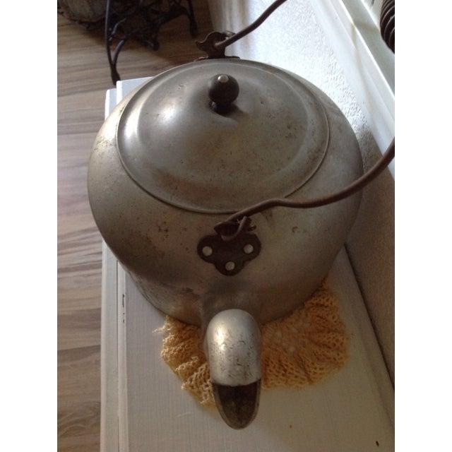Antique Aluminum Tea Kettle - Image 4 of 7