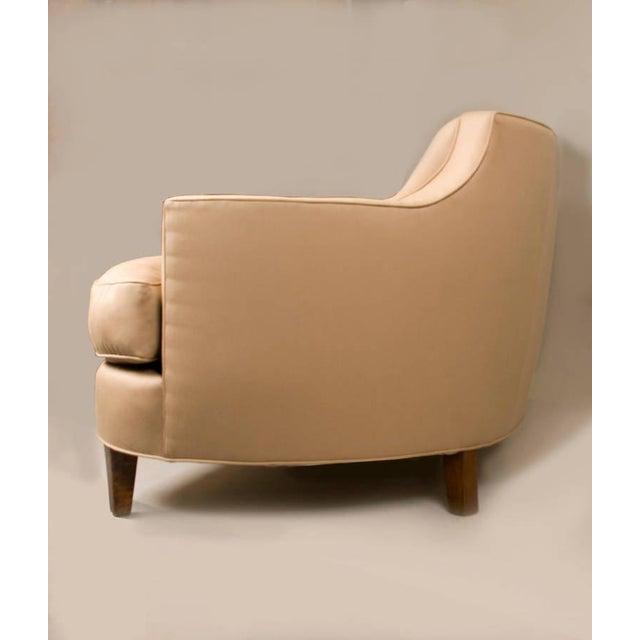 Sister Parish Wool Fabric Upholstered Mid-Century Sofa - Image 5 of 6