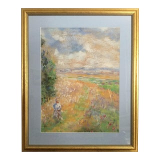 Original Impressionist-Style Pastel Painting For Sale