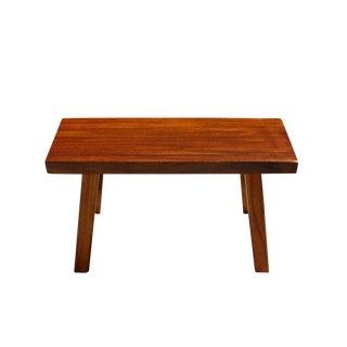 Oriental Zen Natural Okan Wood Solid Seat Plank Bench