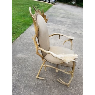 Vintage Antler Authur Court Chair Rustic Preview