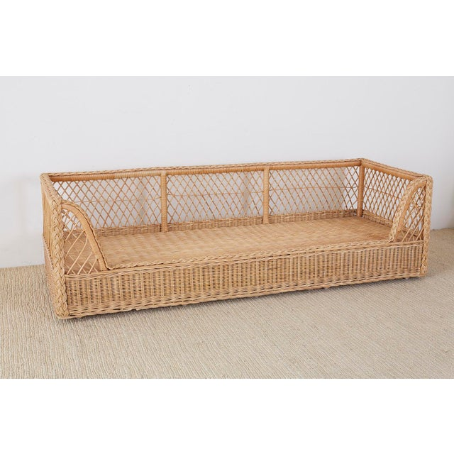 McGuire McGuire Organic Modern Rattan and Wicker Daybed Sofa For Sale - Image 4 of 13