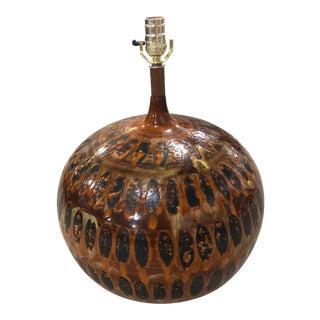 1970s Vintage Glazed Table Lamp For Sale