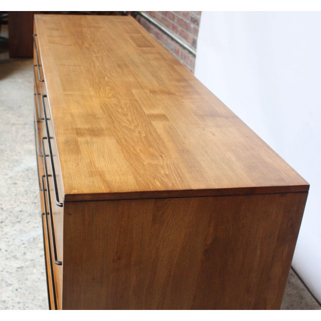 1950s Milo Baughman for Murray Eight-Drawer Chest in Maple and Iron For Sale - Image 5 of 13