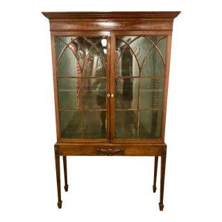 George III Period Mahogany Vitrine/Cabinet For Sale