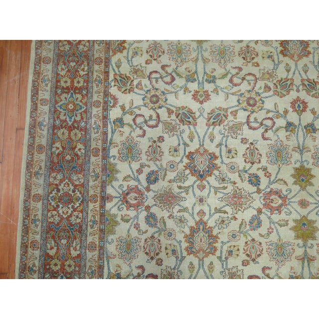 1920s Shabby Chic Ivory Antique Rug, 8'5'' X 11'5'' For Sale - Image 5 of 8