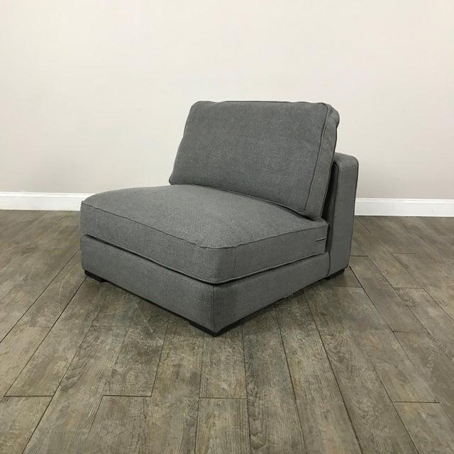 Gray Modern Armless Club Chair - Image 2 of 11