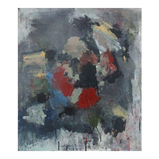 Vintage 1970s Abstract Oil Painting