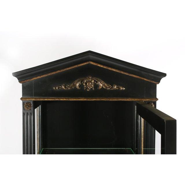Pair Mid 20th Century Gilt Wood Ebonised Cabinets / Vitrines For Sale - Image 9 of 13