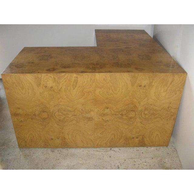 Wood Burl Walnut Desk by Milo Baughman for Thayer Coggin For Sale - Image 7 of 9