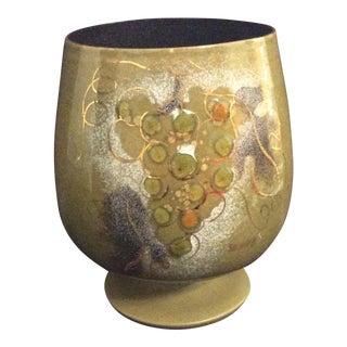 Sascha Brastoff Enamel On Copper Urn