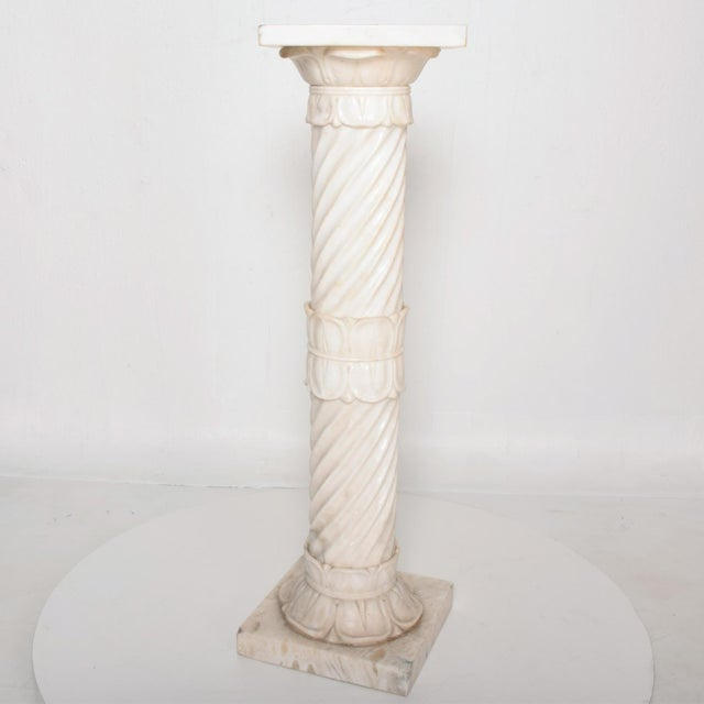 Stone Antique Italian Pedestal Marble Table For Sale - Image 7 of 11