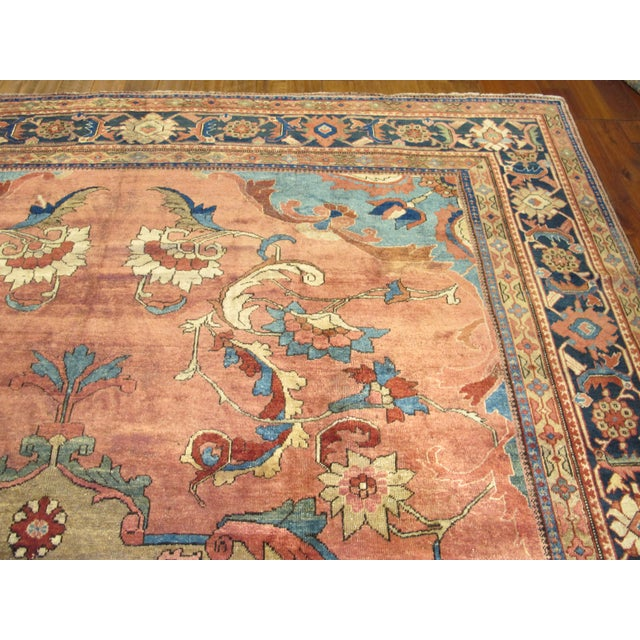 Antique Persian Mahal Carpet For Sale In Los Angeles - Image 6 of 9