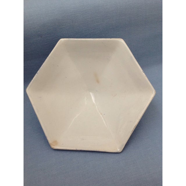 Antique Blue and White Transferware Dish With Lid For Sale - Image 12 of 13