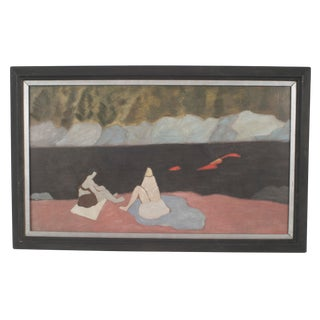 """Milton Avery Reproduction """"Two Female Bathers"""" Painting For Sale"""