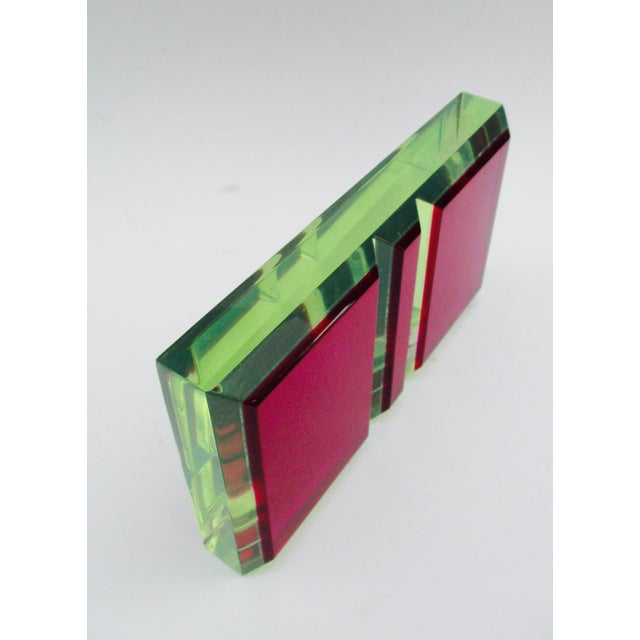 Vasa Velizar Mihich Style Lucite Paperweight Sculpture Block For Sale - Image 12 of 13