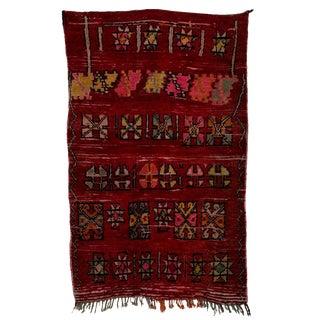 "Boucherouite Moroccan Carpet - 7'2""x4'6"""
