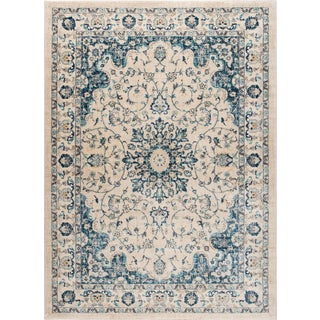Journey Karina Traditional Medallion Cream Rectangle Area Rug - 5' x 8' For Sale