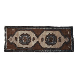 Hand Knotted Turkish Runner Rug - No Dyes 3′1″ × 8′4″ For Sale
