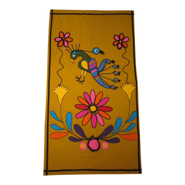 Vintage Mexican Wall Tapestry - Image 1 of 5