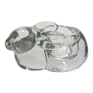 Crystal Glass Bunny Shaped Candy Dish For Sale