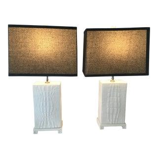 Jonathan Adler Crocodile Table Lamps - a Pair For Sale