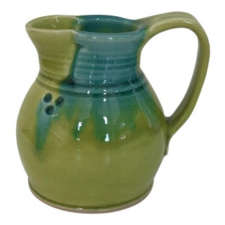 Handcrafted Blue & Green Pitcher For Sale