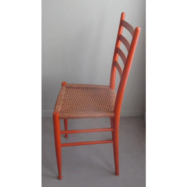1960s Mid-Century Modern Gio Ponti Style Side Chair For Sale - Image 5 of 7