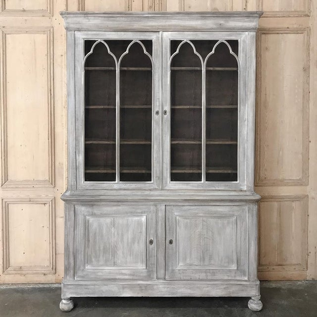 19th Century French Louis Philippe Period Whitewashed Bookcase For Sale - Image 13 of 13