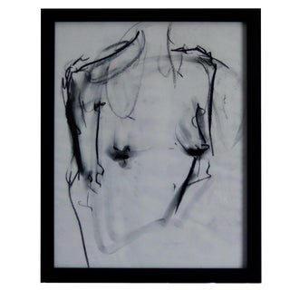 Charcoal Figure Framed Original Art For Sale