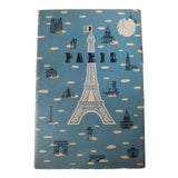 Image of Mid 20th Century French Map of Paris, Frameable European Art Print For Sale