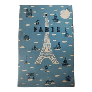 Mid 20th Century French Map of Paris, Frameable European Art Print For Sale