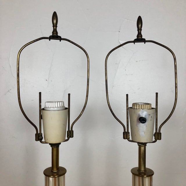 Transparent 1950s Italian Murano Hand Blown Glass Lamps - a Pair For Sale - Image 8 of 13