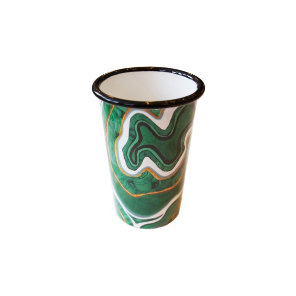 500ml 13.5cm H, 9 cm W Enamelware Handmade