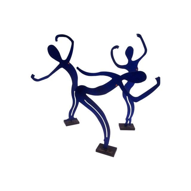 Modernist Abstract Dancer Steel Sculptures - Set 3 - Image 1 of 6