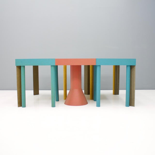 Blue Set of Six Tangram Tables by Massimo Morozzi for Cassina, 1983 For Sale - Image 8 of 11
