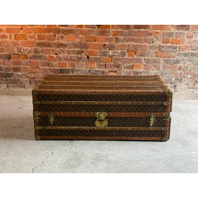 Metal Louis Vuitton Steamer Trunk Wardrobe Trunk Chest France, circa 1920 For Sale - Image 7 of 13