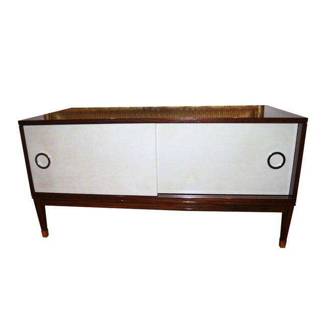 White Ryan Parchment Door Rosewood Console For Sale - Image 8 of 10