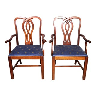 Chippendale Style Mahogany Side Chairs - a Pair For Sale