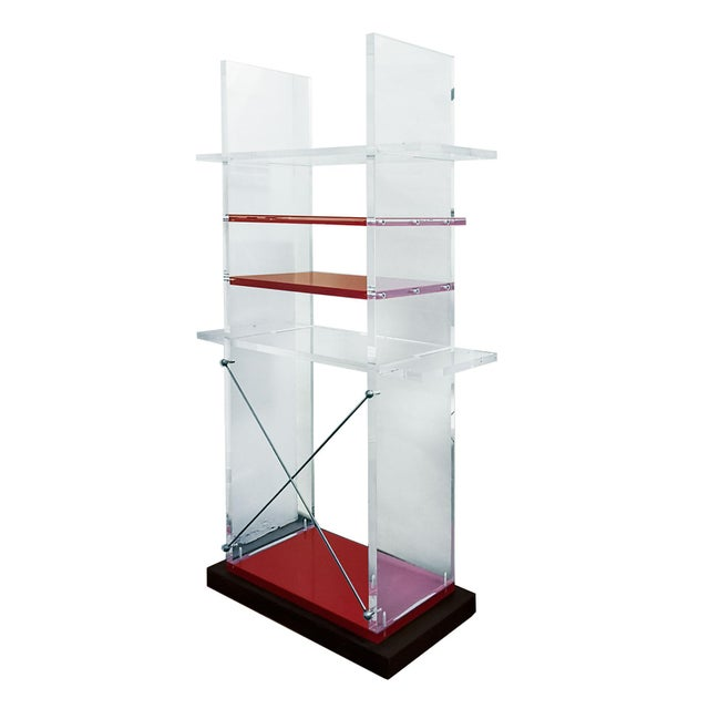 1980s 1980´s Pair of Bookcases, Plexiglas, Cast Iron - Italy For Sale - Image 5 of 8