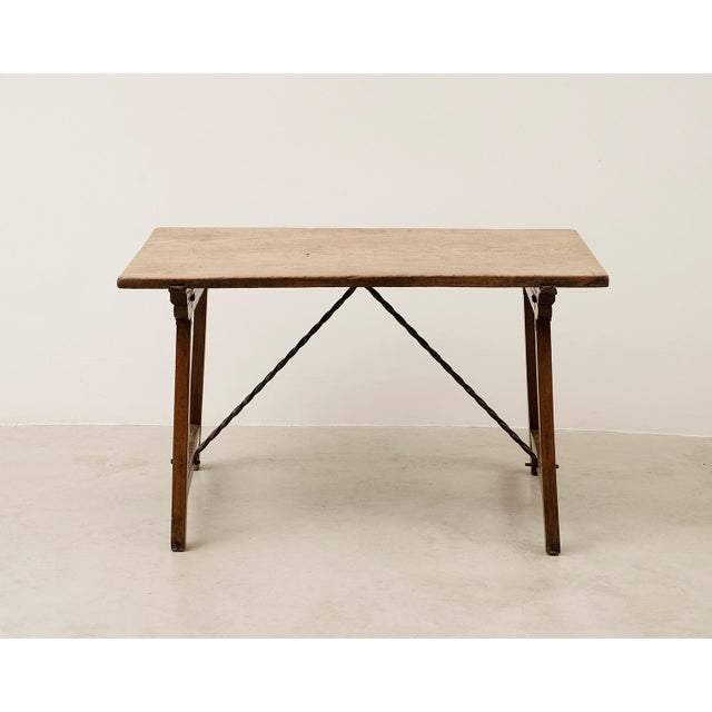 Mediterranean 18th Century Spanish Travel Table in Walnut For Sale - Image 3 of 10