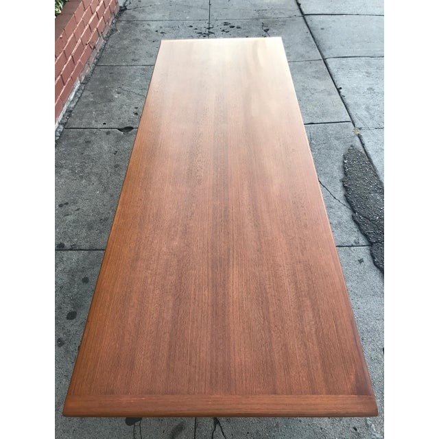 Teak Mid-Century Danish Coffee Table by Dux For Sale - Image 7 of 10