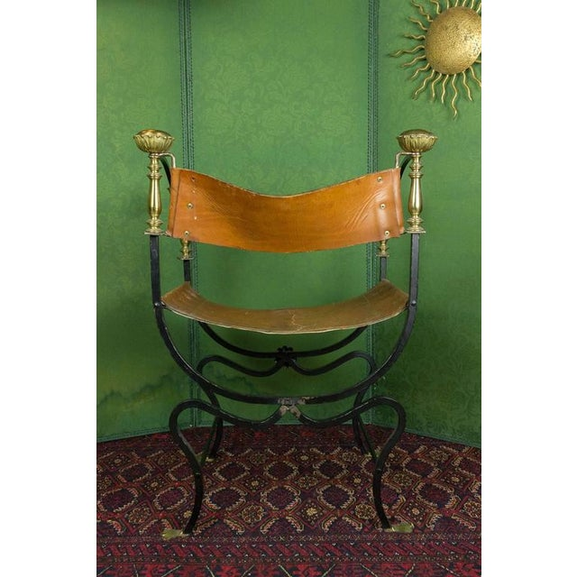 20th Century Italian Iron Campaign Chair For Sale In New York - Image 6 of 11