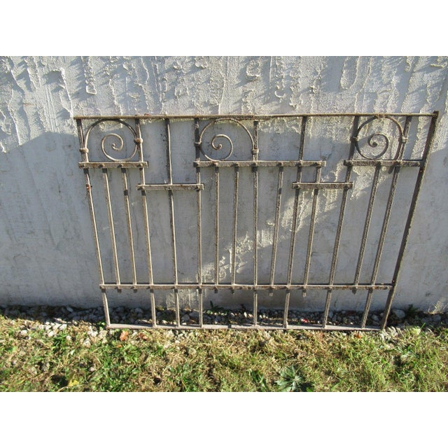 Antique Victorian Iron Gate Window Garden Fence Architectural Salvage Door #025 For Sale In Philadelphia - Image 6 of 6