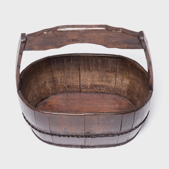 Mid 19th Century 19th Century Chinese Burden Bucket For Sale - Image 5 of 7