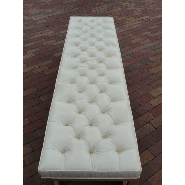 Modern Modern Extra-Long Tufted Bench For Sale - Image 3 of 8